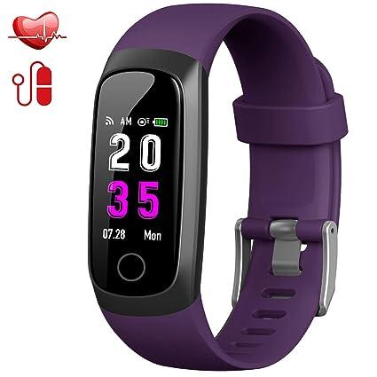 Trswyop Pulsera de Actividad Inteligente, Reloj Inteligente Hombre Mujer con Pulsómetro y Presión Arterial Reloj Deportivo Podómetro GPS Impermeable IP67 ...