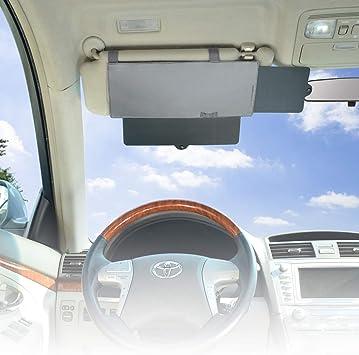 Wanpool Auto Sonnenblende Blendfreie Sonnenblende Für Vordersitz Fahrer Und Beifahrer Grau Auto