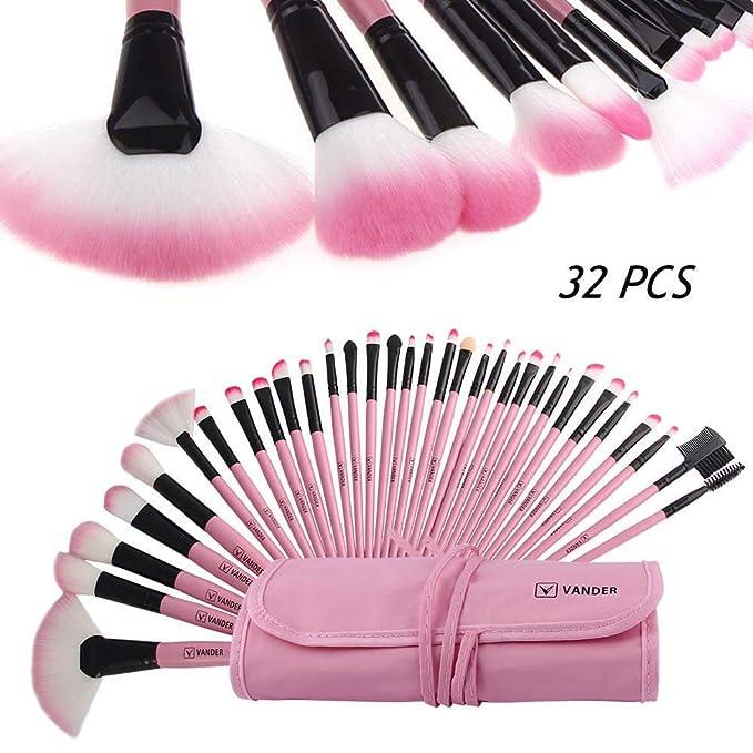 Amazon.com: FidgetFidget 32 Pinceles Y Brochas para Maquillaje ...