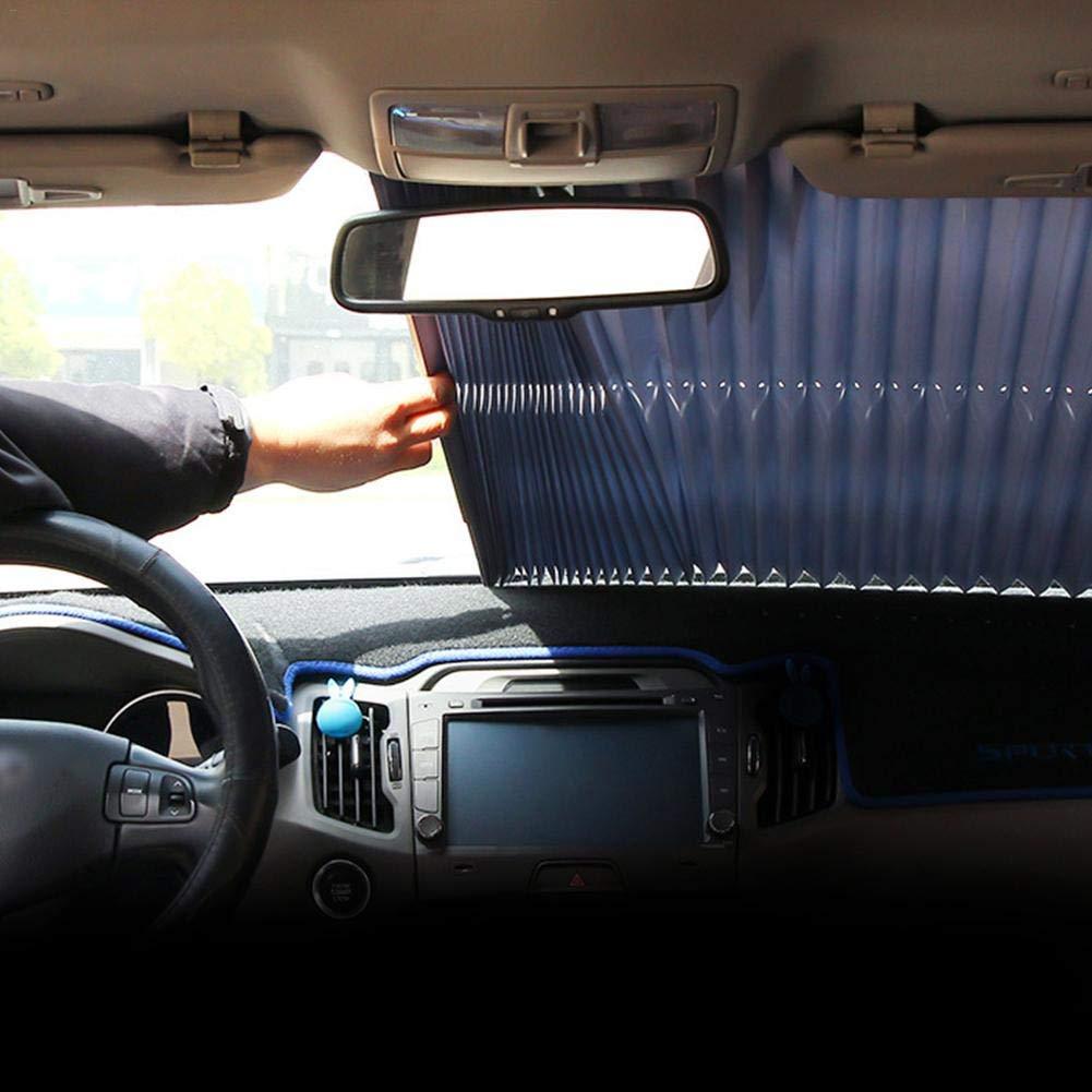 Protection UV contre la chaleur Pare-soleil de voiture pliable r/étractable pour ouvrir le pare-soleil avant et arri/ère de voiture forte ventouse qui maintient le v/éhicule au frais