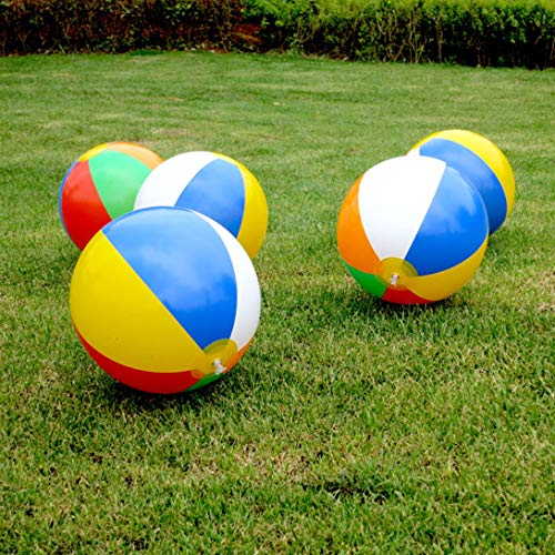 Swiftswan 30 Cm Color Inflatable Ball Children'S Game Water Polo 6 Color Beach Toy Ball Beach Ball Colorful