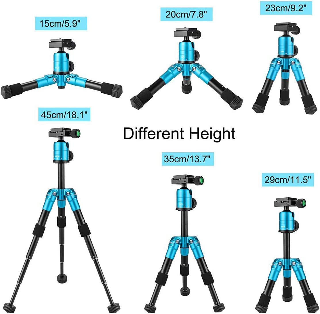 Compact Lightweight Aluminum Tripod with 360/° Panorama Ball Head for DSLR Monopod Tripod for Travel and Work Aceyyk Video Camera Tripod