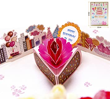Amazon dofe 3d birthday pop up greeting cards for kids for dofe 3d birthday pop up greeting cards for kids for wife husband day card and m4hsunfo