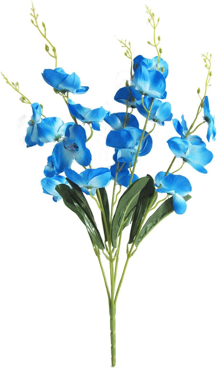 Artificial Blue Orchid (Butterfly) Bouquet