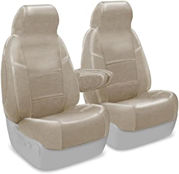 Premium Leatherette Taupe Coverking Custom Seat Cover for Select Ford Bronco Full Size Models