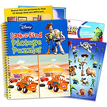 disney pixar look and find puzzle book set kids toddlers jumbo book with toy story stickers - Toy Story Toddler Sheets