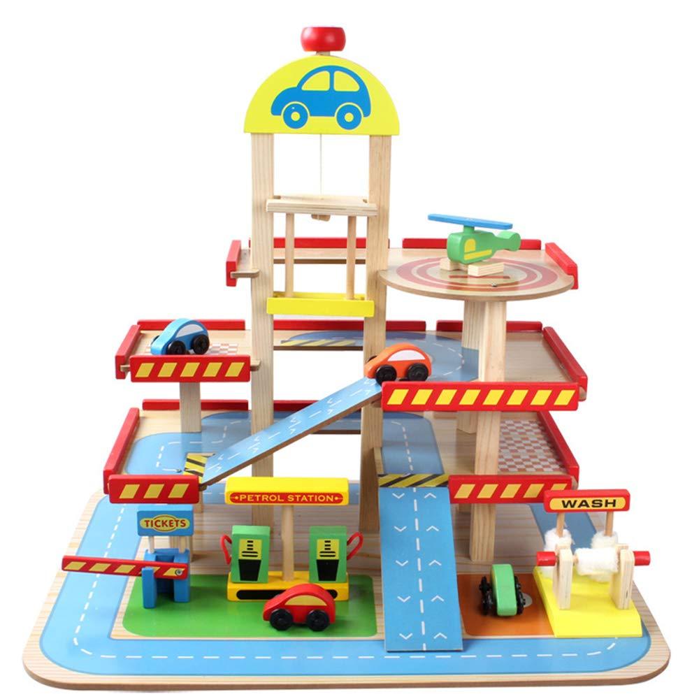贈り物 子供のおもちゃ、三次元三階建ての木製の駐車場、DIYのおもちゃのセット 車のトラック 建物ブロックのおもちゃを挿入する(6歳以上) 車のトラック B07KDLDMPH, 寿都郡:bac76559 --- a0267596.xsph.ru