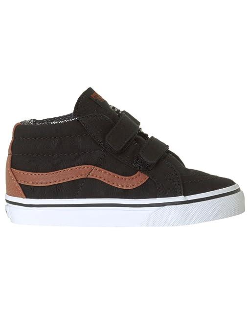 Zapatos Ninos Pequeños Vans Sk8-Mid Reissue V Negro-Material Mix (Eu 20 / Us 4.5 Ninos Pequeños , Negro): Amazon.es: Deportes y aire libre