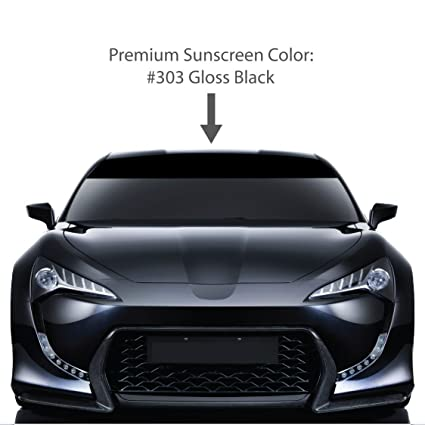 4 quot  x 72 quot  PREMIUM Windshield Visor Sun Screens.   GLOSS BLACK    Vinyl f258a1564d5