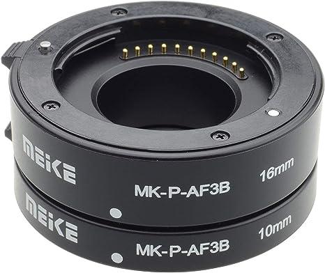 Meike MK-P-AF3B, Juego de 3 anillos adaptadores para cámara réflex ...