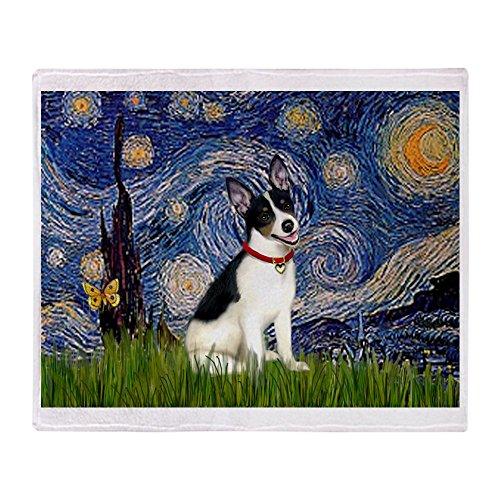 """CafePress - Starry Night / Rat Terrier - Soft Fleece Throw Blanket, 50""""x60"""" Stadium Blanket"""