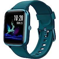 Fitpolo Smartwatch heren, fitnessarmband, volledig touchscreen, 5 ATM, waterdicht, stappenteller, horloge, hartslagmeter…