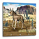 3dRose dpp_62994_1 Donkey in The Southwestern Desert-Wall Clock, 10 by 10-Inch For Sale