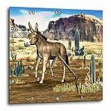 3dRose dpp_62994_1 Donkey in The Southwestern Desert-Wall Clock, 10 by 10-Inch For Sale