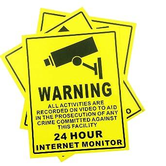 Amazon.com: CCTV Signs - Lote de 10 señales autoadhesivas de ...