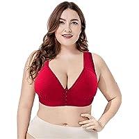 Masi Bra - Plus Size Front Closure Elastic Push Up Comfort Bra, Bras for Women, Comfortable Oversized Seamless Bra, for…