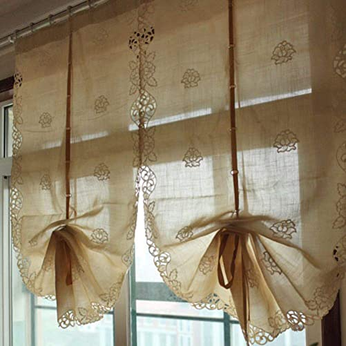Lifting Curtains,Curtains,Roman Blinds,Semi Sheer Curtains,Sheer Elegant Embroidered,for Hotel Dormitory 1pcs-A 65x250cm 26x98inch