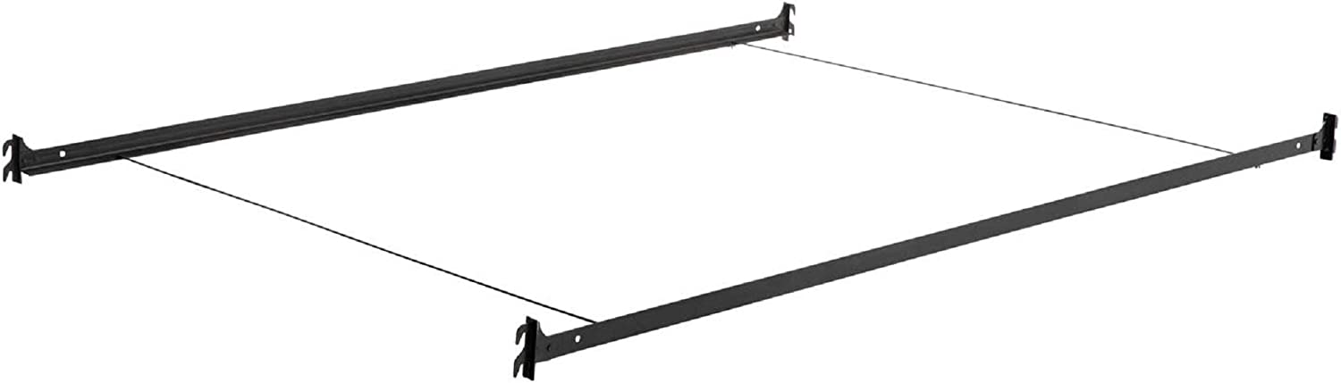MALOUF Hook-in Metal Bed Rail System with Cross Wires - Queen