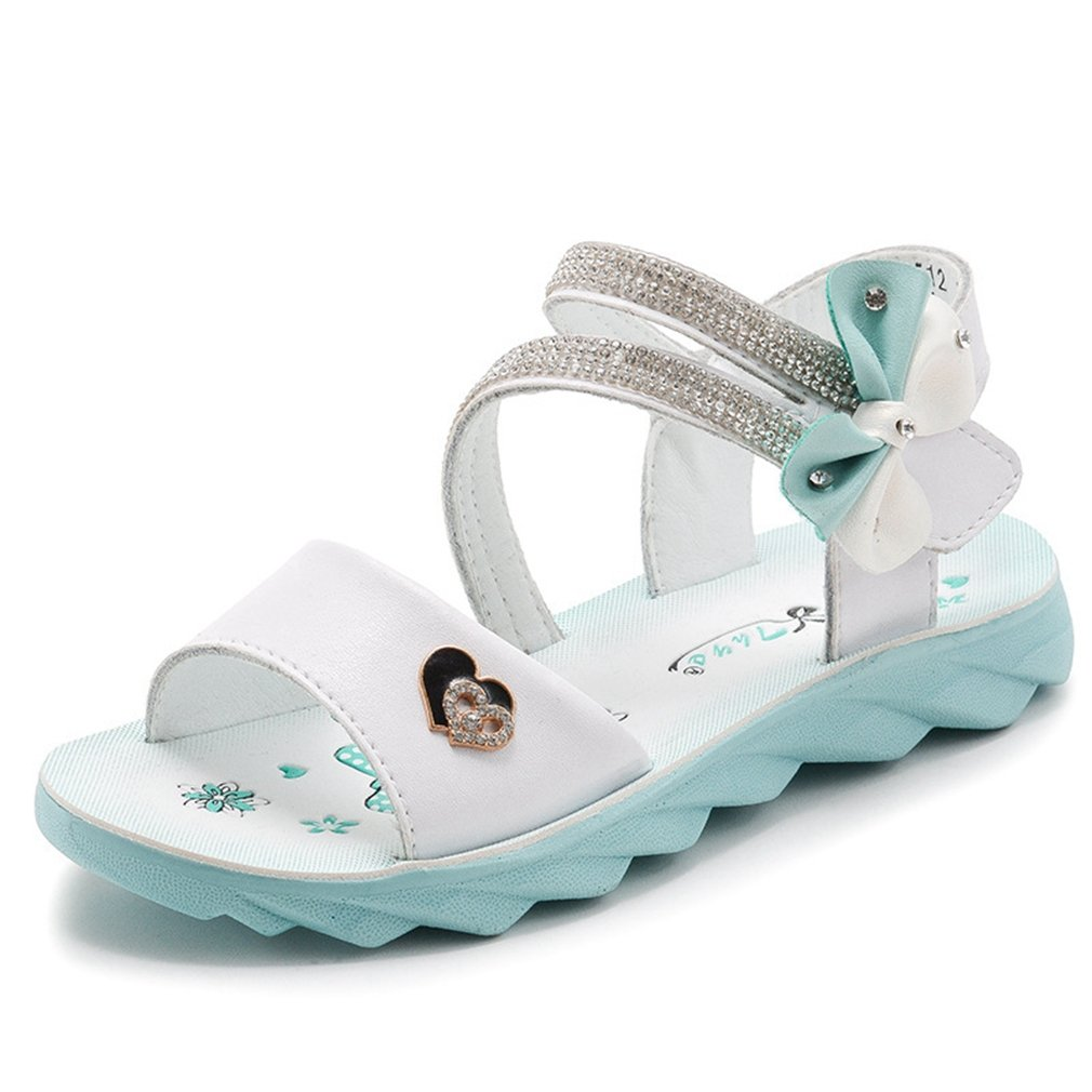 CYBLING Cute Fashion Open Toe Sandals for Girls Summer Leather Flat Shoes (Toddler/Little Kid)