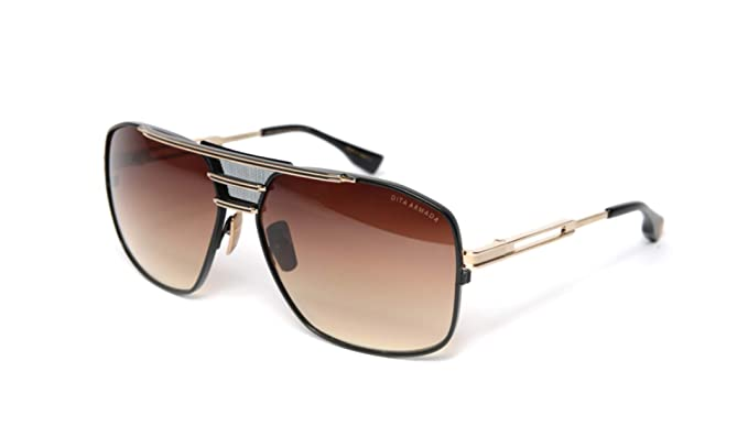 Amazon.com: Dita Armada DRX-2045-B-GLD-BLK-62 - Gafas de sol ...