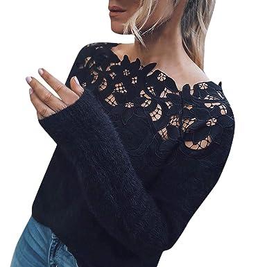 Pullover Lange Mädchen,Covermason Damen Sweatshirt Winter Sexy Bodycon  V-Ausschnitt Lange Ärmel Frau cd28e7342f