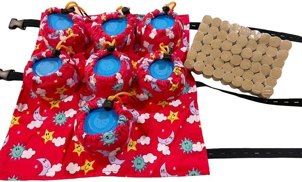 Golden Moxa Abdomen Moxibustion for Woman, Warm Uterus, Treat Gynecology -7 Boxes & 54pcs Premium Moxa Rolls