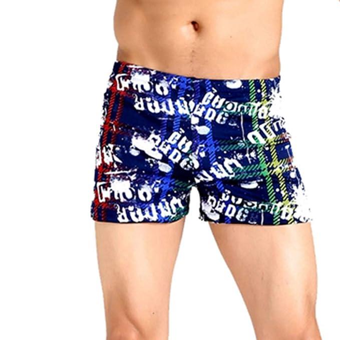 133bd2b9 Bañadores para Hombre de Estampado, Pantalones de Playa, Shorts de Secado  rápido,Internet_Elástico
