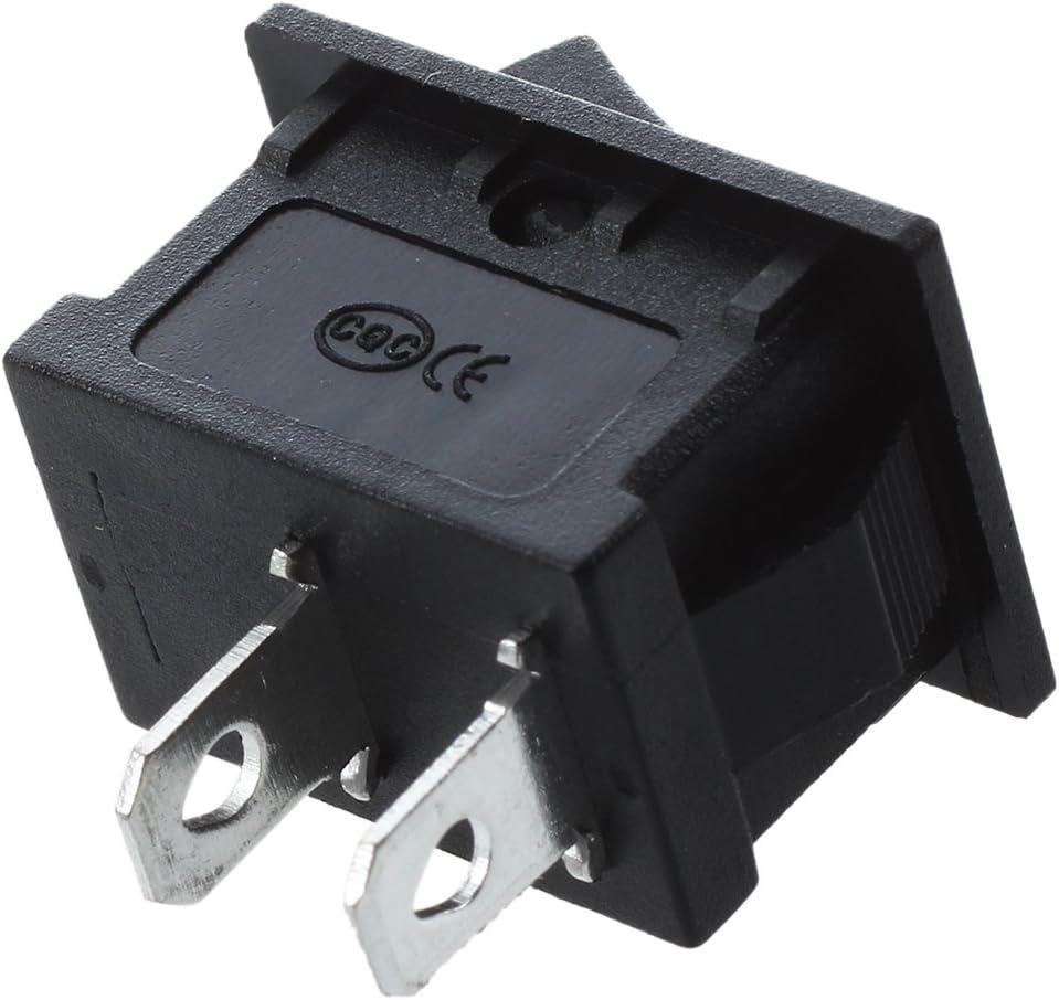 R ACAMPTAR ACAMPTAR 2 Stueck Auto AC 6A// 250V 10A// 125V 2 Pin 2 Position ON//OFF Kippschalter KCD1