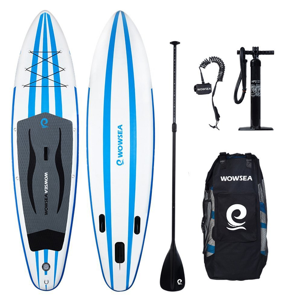 Tabla hinchable paddle surf, WOWSEA paddle board hinchable con tamaño de 305 x 81 x 15cm, carga de 125-130kg: Amazon.es: Deportes y aire libre