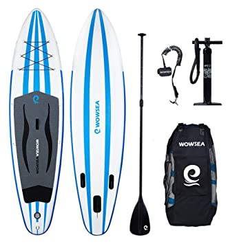 Tabla hinchable paddle surf, WOWSEA paddle board hinchable con tamaño de 305 x 81 x