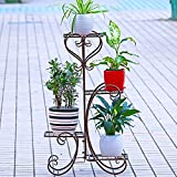 UNHO Metal Plant Stand Flower Holder Garden Decor with 4 Tier Shelves for Indoor and Outdoor Bronze