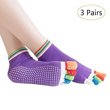 SONSYON Mujer Calcetines de Cinco Dedos Yoga - Pilates Barra ...