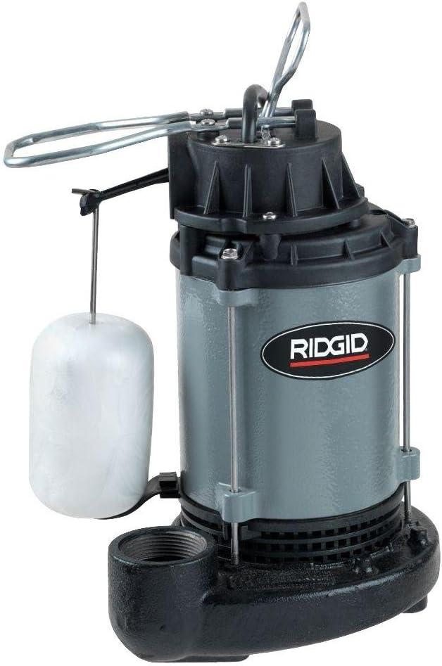 Ridgid 1/2 HP Cast Iron Submersible Sump Pump