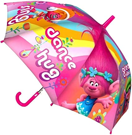 Official Trolls Poppy Character Umbrella for Children Kids