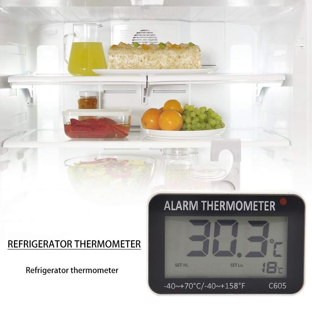 Termómetro de frigorífico de precisión digital con gran pantalla ...