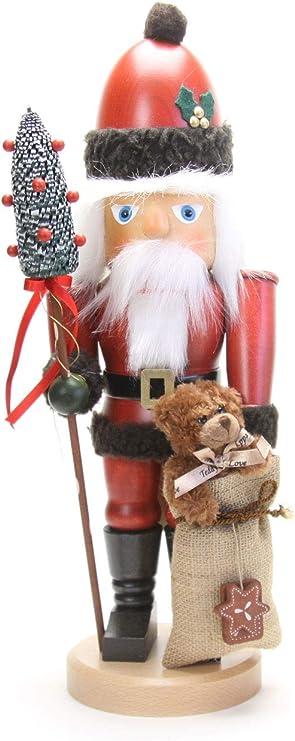Amazon Com Christian Ulbricht German Christmas Nutcracker Santa Claus With Teddy 44 5 Cm 18 Inch Authentic German Erzgebirge Nutcrackers Home Kitchen