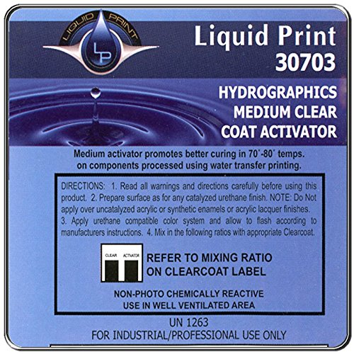 Medium Clear Hardener 1 Quart - Liquid Print Hydrographics Paint Supplies by Liquid Print