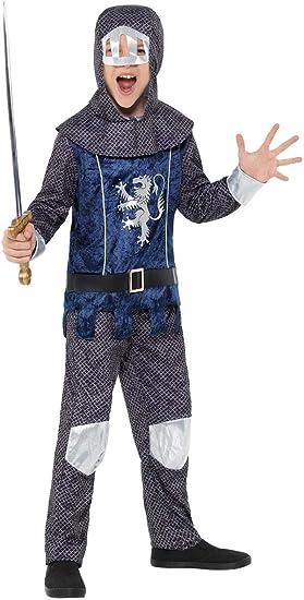 Smiffys Disfraz de Caballero Medieval Azul para niño ...
