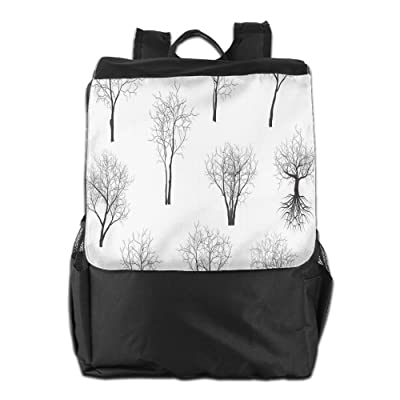 Newfood Ss Spooky Horror Movie Themed Branches Forest Trees Nature Art Print Outdoor Travel Backpack Bag For Men And Women