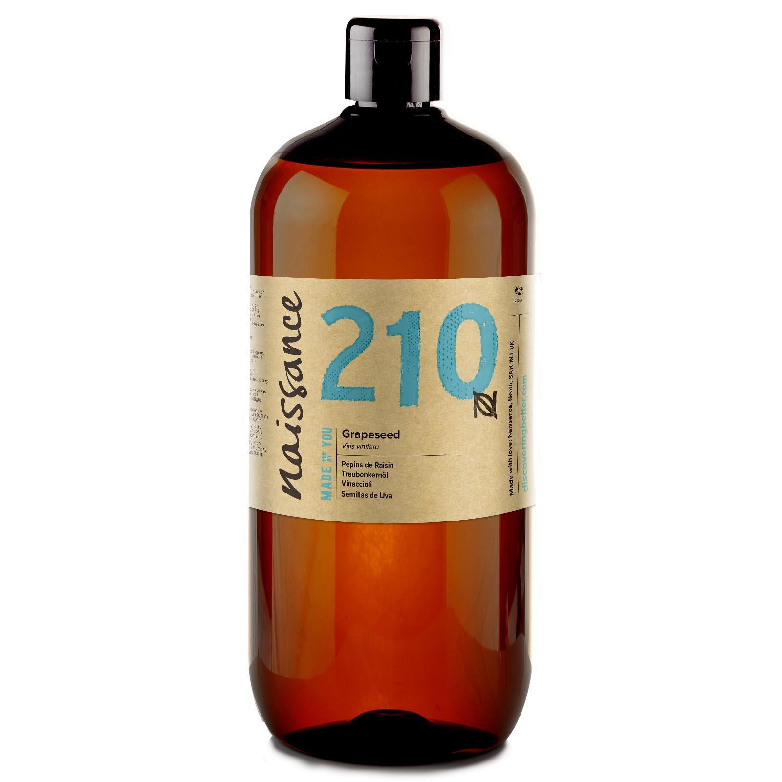 Naissance Aceite Vegetal de Semillas de Uva n. º 210 – 1 Litro - Puro