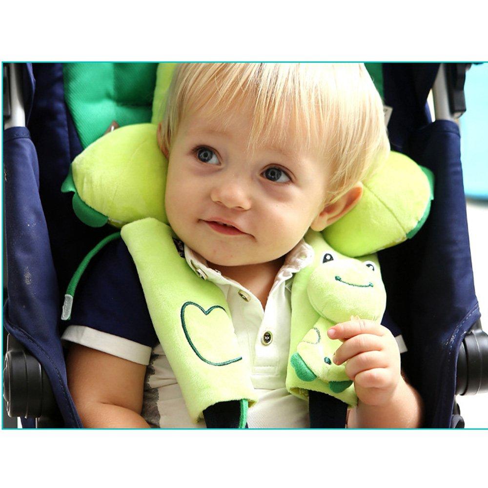 rana Los asientos del coche Almohada beb/é reci/én nacido asiento infantil de seguridad la forma de U almohada suave Memoria de Protecci/ón ayuda del cuello Cabeza de viajes juguete animal lindo
