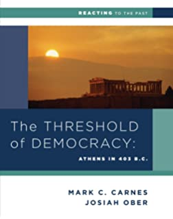 The Threshold Of Democracy Athens In 403 BC Reacting To Past