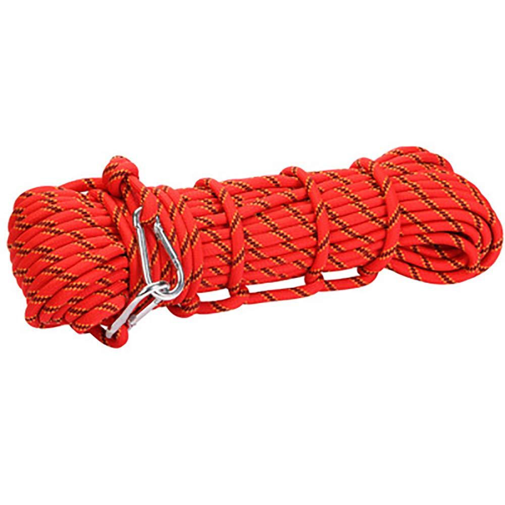 Cuerda Que Sube Al Aire Libre De del Rescate, Cuerda De Libre La Seguridad del Alpinismo, Cuerda Wear-Resistant del Escape, Equipo De La Supervivencia del Campo Cuerda De Emergencia 30M,Rojo abb7e0