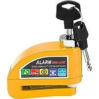 Candado Moto Disco con Alarma 110dB, Antirrobo Moto Freno 7mm con Cable 1.5m, Cerradura Pinza con Alarm, Alta Seguridad…