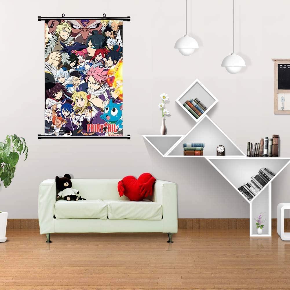 Fairy Tail Templom SIX Japonais Anime Affiche Mur D/éfilement Suspendu Peintures Art Peinture Mur D/éfilement Affiche