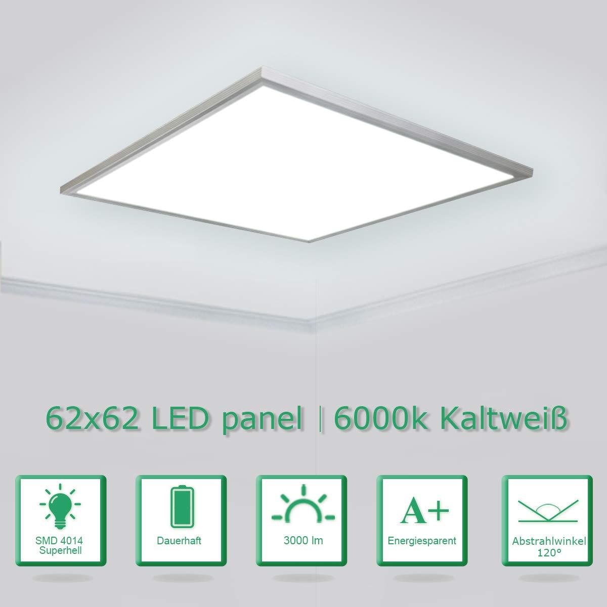 Plus Serie Qualitäts LED Panel Slim 60x60cm 40W Deckenleuchte Licht 4000K Weiß