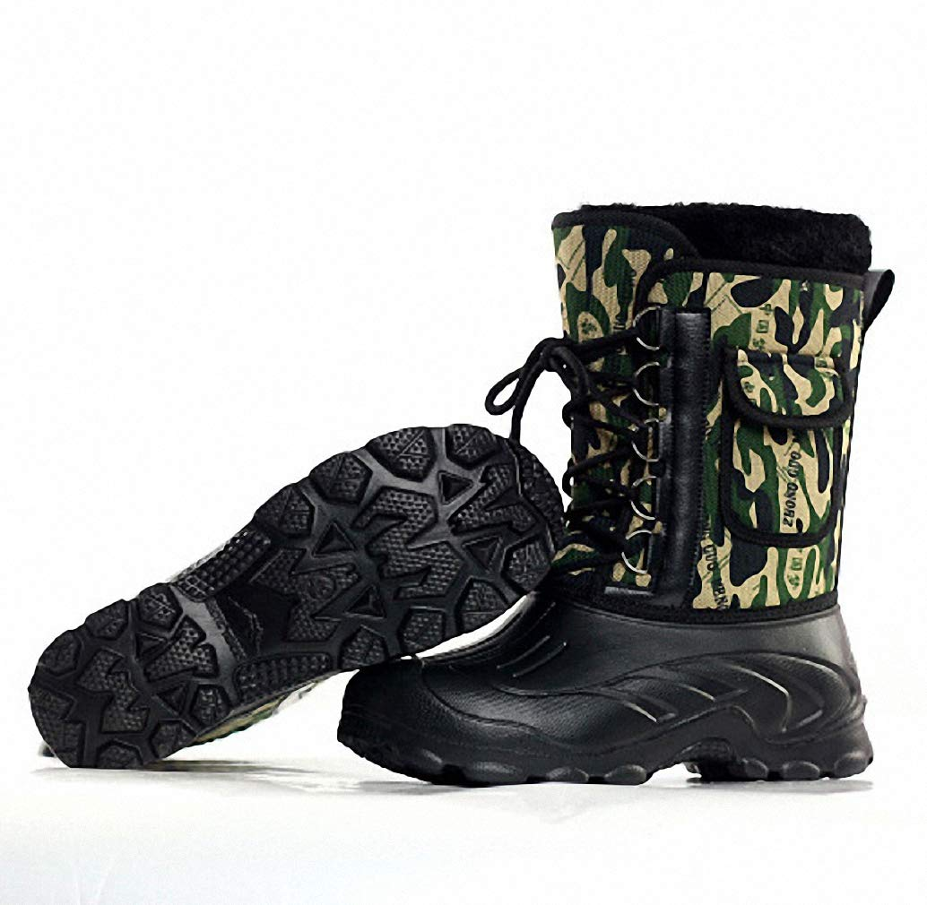 Amazon.com: Tebapi Mens Backpacking Boots Winter Men Military Boots Male Waterproof Snow Ankle Boots Combat Warm Fur Shoes Zapatillas Hombre: Sports & ...