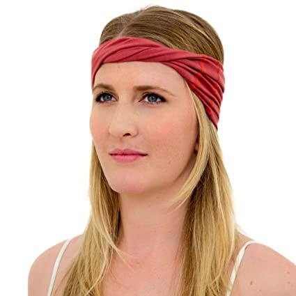 Amazon.com  ORGANIC COTTON HEADBAND in MARSALA RED by KOOSHOO ... c45e534303
