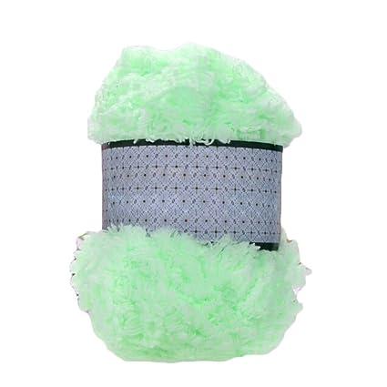 Ovillo de lana de chenilla suave y cálida para tejer toallas, abrigos y jerséis -