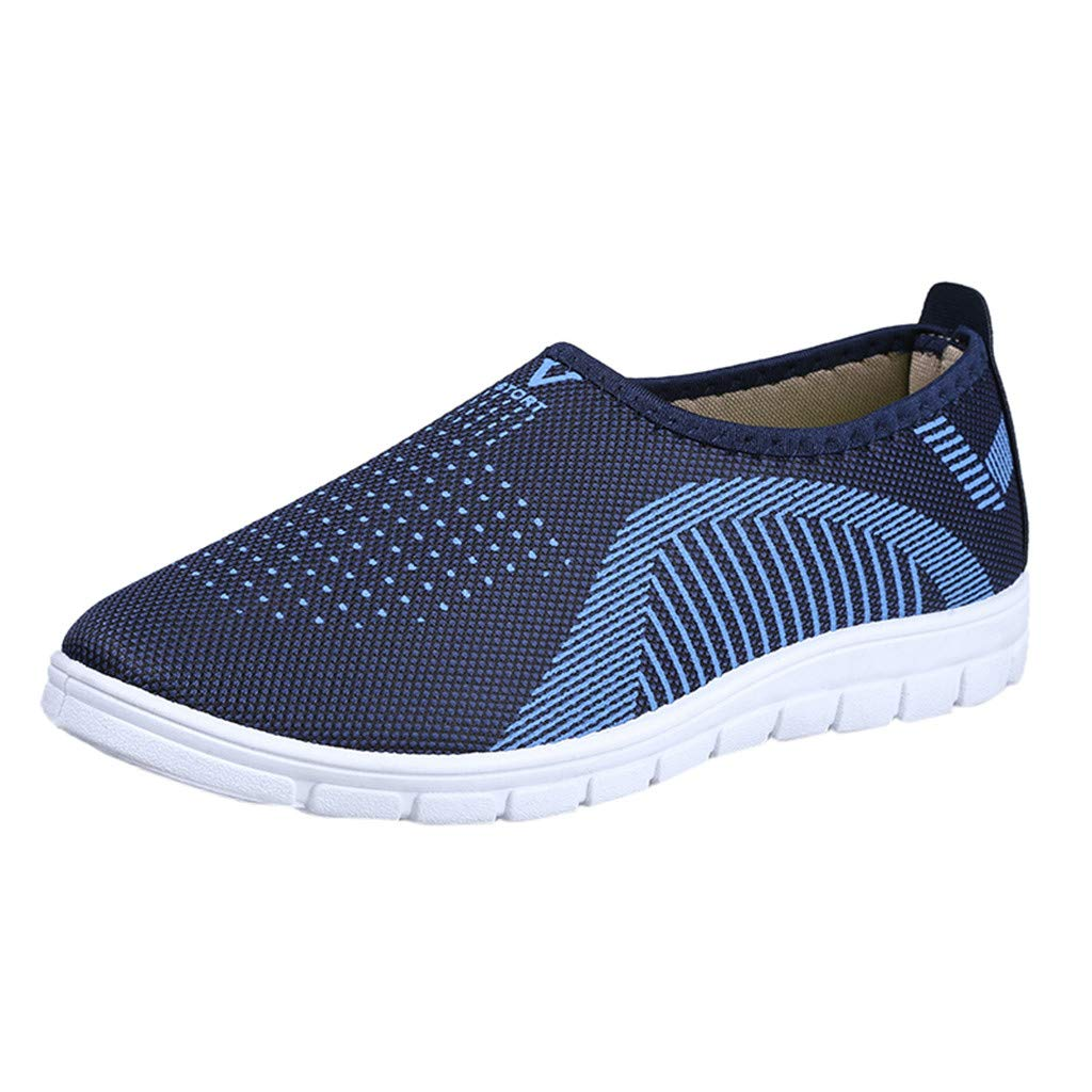 VonVonCo Men's Casual Slip-On Sport Shoes Sneaker Comfortable Footwears Loafers Shoes Blue by VonVonCo (Image #1)